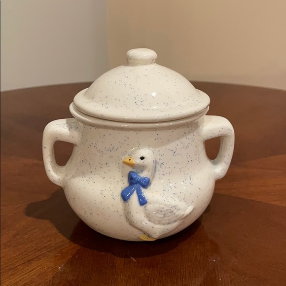 Vintage 3D Duck Sugar Bowl with Lid